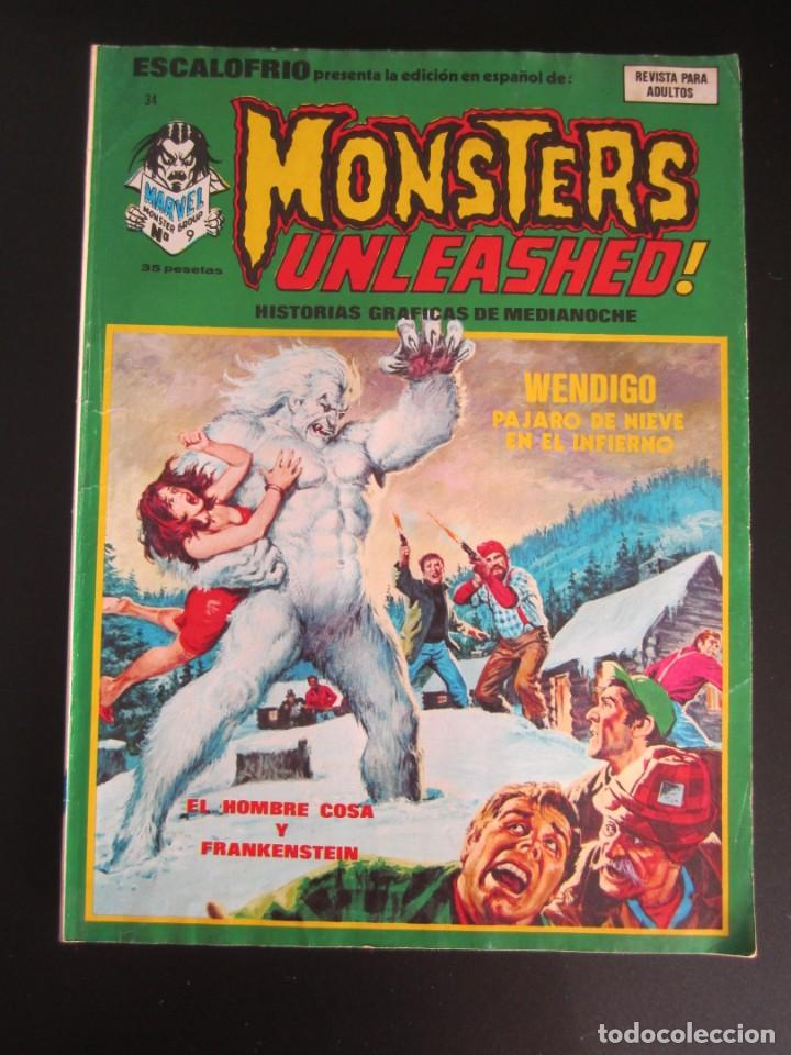 ESCALOFRIO (1973, VERTICE) 34 · 15-VI-1975 · MONSTERS UNLEASHED 9 (Tebeos y Comics - Vértice - Terror)