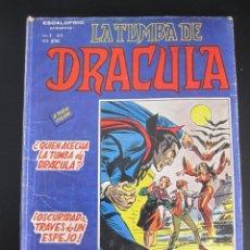 Cómics: DRACULA, LA TUMBA DE (1981, VERTICE) 2 · III-1981 · ¿QUIEN ACECHA LA TUMBA DE DRACULA?. Lote 186230667