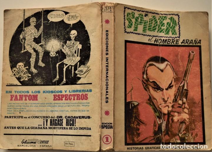 Cómics: SPIDER EL HOMBRE ARAÑA VOL. 1 - EDICIÓN ESPECIAL - EDICIONES VÉRTICE AÑO 1971 - Foto 2 - 186436096
