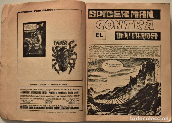 Cómics: SPIDER EL HOMBRE ARAÑA VOL. 1 - EDICIÓN ESPECIAL - EDICIONES VÉRTICE AÑO 1971 - Foto 4 - 186436096