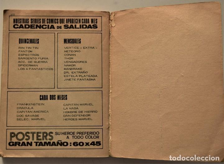 Cómics: SPIDER EL HOMBRE ARAÑA VOL. 1 - EDICIÓN ESPECIAL - EDICIONES VÉRTICE AÑO 1971 - Foto 5 - 186436096