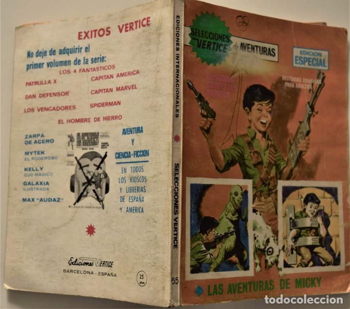 Cómics: SELECCIONES VÉRTICE DE AVENTURAS Nº 65 - EDICIÓN ESPECIAL - EDICIONES VÉRTICE AÑO 1969 - Foto 2 - 186439896
