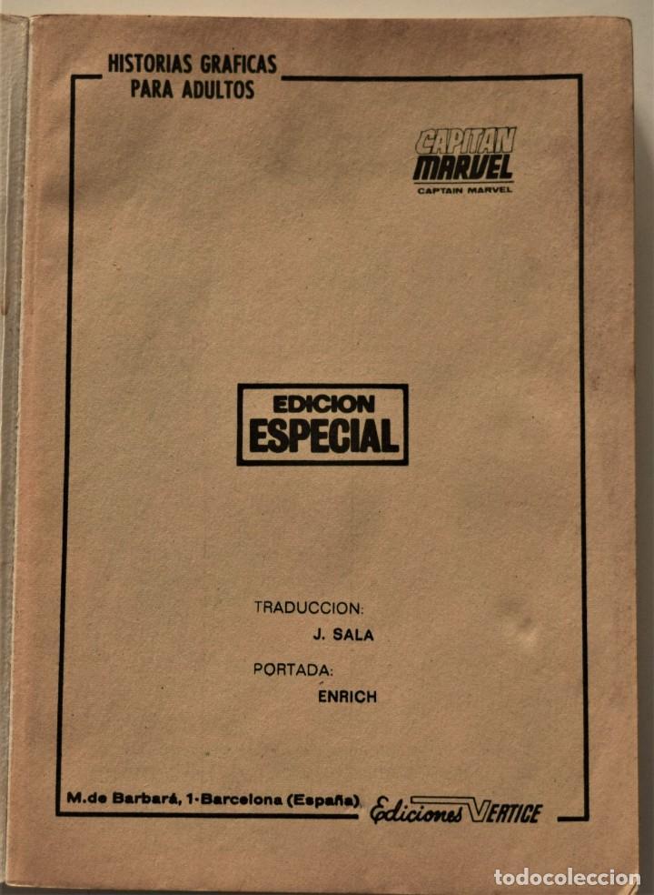 Cómics: CAPITÁN MARVEL Nº 2 - EDICIÓN ESPECIAL - EDICIONES VÉRTICE AÑO 1969 - Foto 3 - 186448407