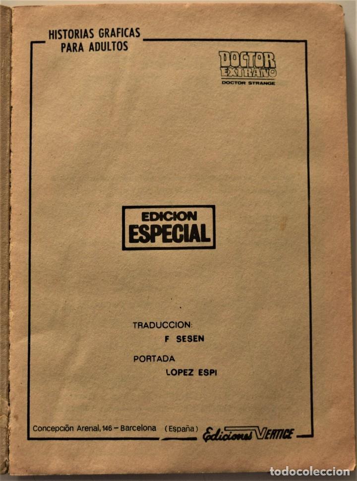 Cómics: DOCTOR EXTRAÑO Nº 1 - EDICIÓN ESPECIAL - EDICIONES VÉRTICE AÑO 1969 - Foto 3 - 186448990
