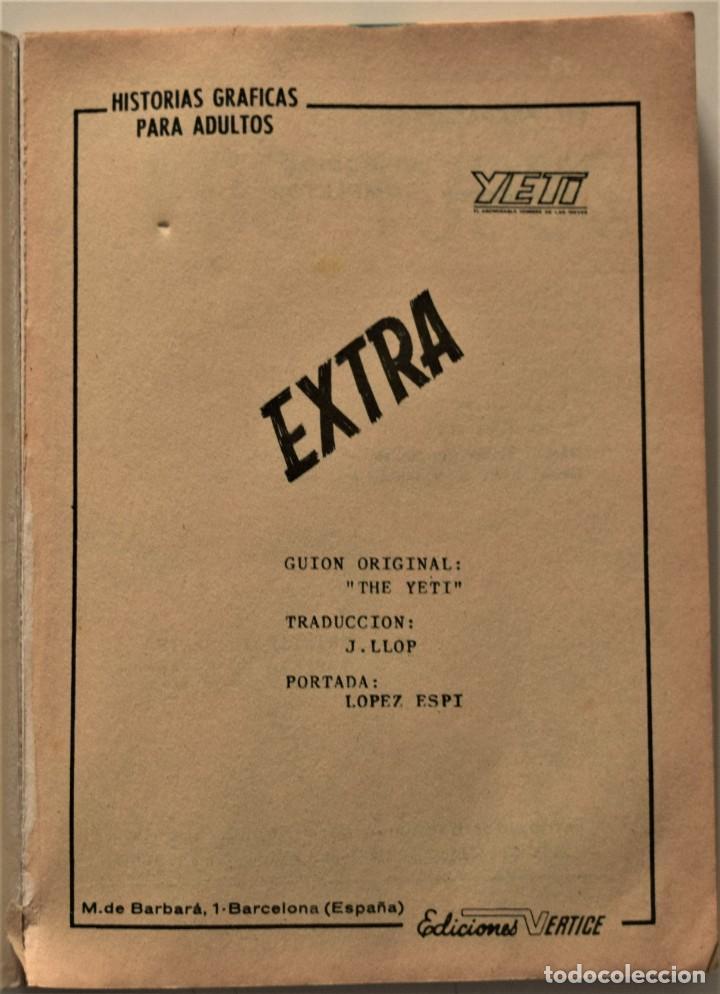 Cómics: YETI EXTRA Nº 5 - EDICIONES VÉRTICE AÑO 1968 - Foto 3 - 186449616