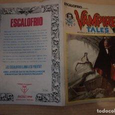 Cómics: ESCALOFRIO - VAMPIRE TALES - Nº 1 - VERTICE- BUEN ESTADO. Lote 188572793