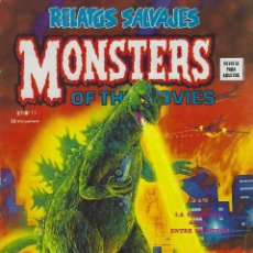 Cómics: RELATOS SALVAJES NUMERO 11. MONSTERS OF THE MOVIES. EXCELENTE ESTADO. Lote 189087150