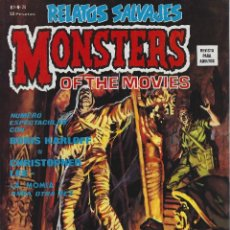 Cómics: RELATOS SALVAJES NUMERO 20. MONSTERS OF THE MOVIES. EXCELENTE ESTADO. Lote 189087187