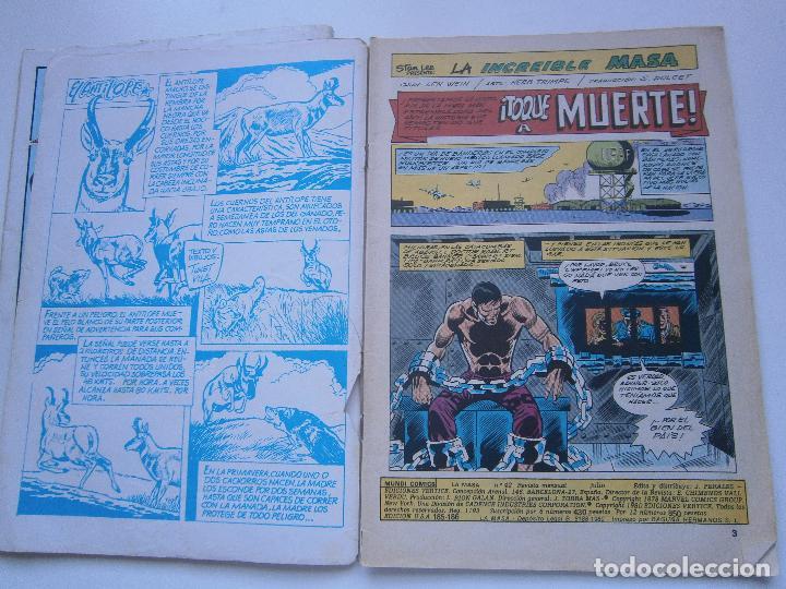 Cómics: LA MASA Vol 3 V.3 - 41, 42 - Vértice Mundi Comics - 1978 - Foto 7 - 189675456