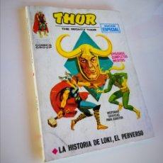 Cómics: THOR , LA HISTORIA DE LOKI EL PERVERSO. Lote 189677983