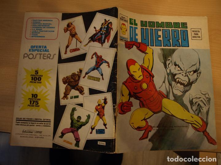 EL HOMBRE DE HIERRO - V 2 - NÚMERO 3 - VERTICE (Tebeos y Comics - Vértice - Otros)