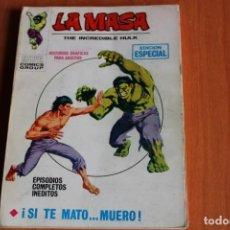 Cómics: LA MASA / SI TE MATO...MUERO Nº13 / ED.VERTICE. Lote 191165153