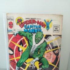 Comics : SUPER HEROES Nº 11 VOL. 2. SPIDERMAN Y CAPITÁN MARVEL MUNDICOMICS. VERTICE, 1974. Lote 191318326