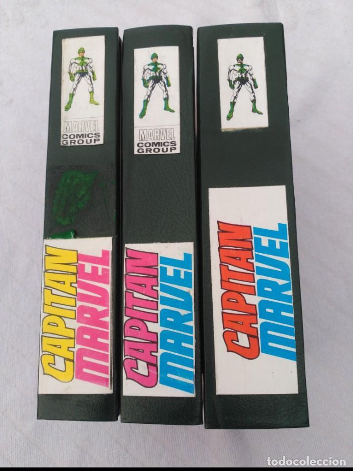 CAPITÁN MARVEL VOL. 1 COMPLETA 13 CÓMICS EN 3 TOMOS ENCUADERNADOS. (Tebeos y Comics - Vértice - V.1)