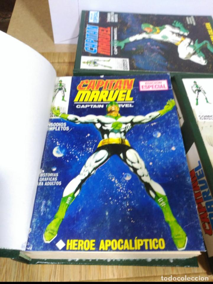 Cómics: Capitán Marvel Vol. 1 COMPLETA 13 cómics en 3 TOMOS encuadernados. - Foto 2 - 191601096