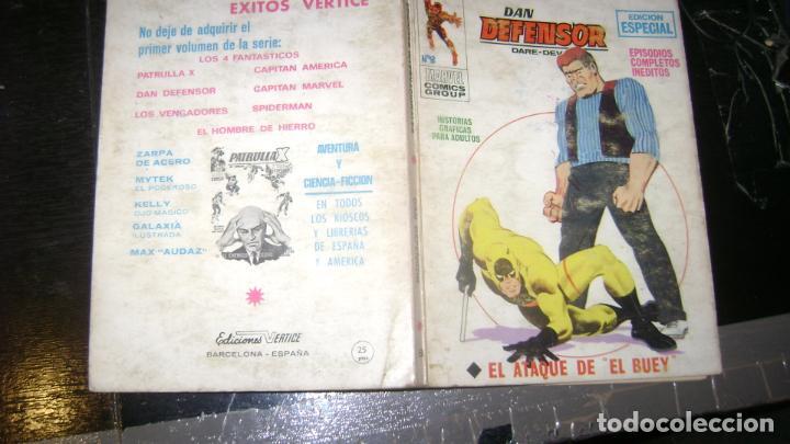 Cómics: VERTICE TACO LOTE DAN DEFENSOR V 1 DEL 1 AL 28 26 NUMEROS VER FOTOS - Foto 9 - 191847916