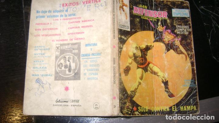 Cómics: VERTICE TACO LOTE DAN DEFENSOR V 1 DEL 1 AL 28 26 NUMEROS VER FOTOS - Foto 10 - 191847916