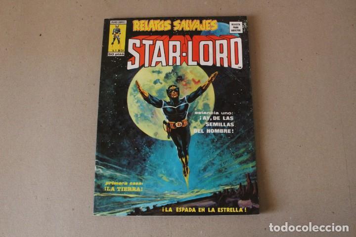 RELATOS SALVAJES, STAR LORD V 1 Nº 34: LA ESPADA EN LA ESTRELLA - ED. VERTICE, MUNDI COMICS 1976 (Tebeos y Comics - Vértice - Relatos Salvajes)