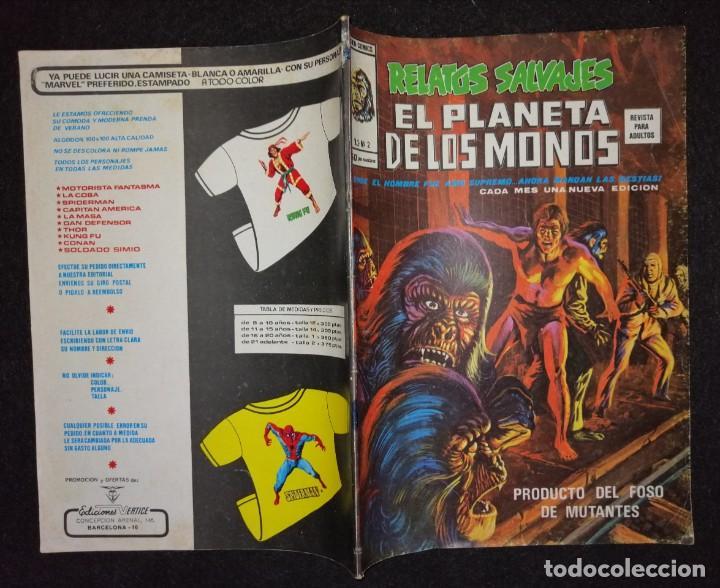 Cómics: RELATOS SALVAJES - EL PLANETA DE LOS MONOS VOL.2 Nº 2 - VÉRTICE 1977 BUEN ESTADO - Foto 2 - 192639257