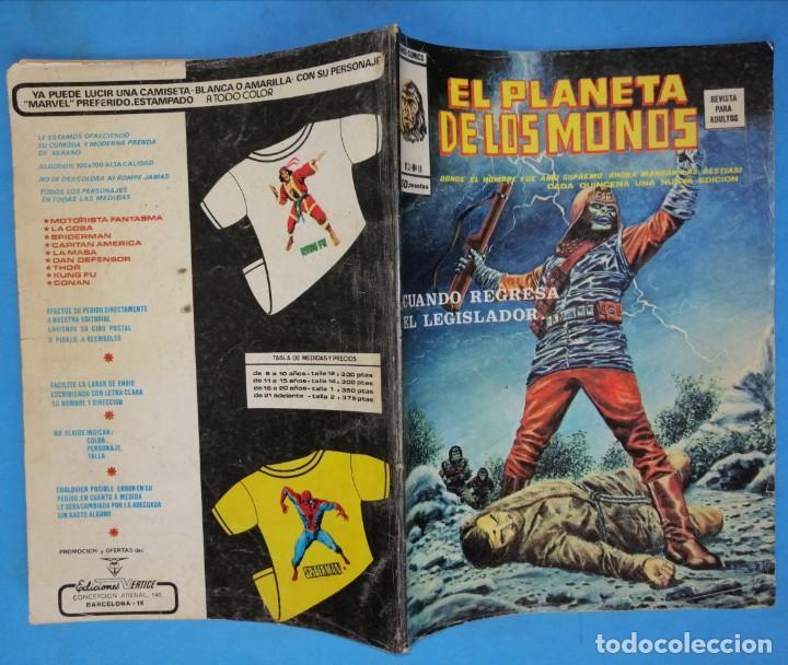 Cómics: EL PLANETA DE LOS MONOS - VOL. 2 - Nº 11 - VÉRTICE 1977 - Foto 2 - 192647793