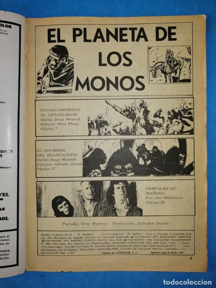 Cómics: EL PLANETA DE LOS MONOS - VOL. 2 - Nº 11 - VÉRTICE 1977 - Foto 3 - 192647793