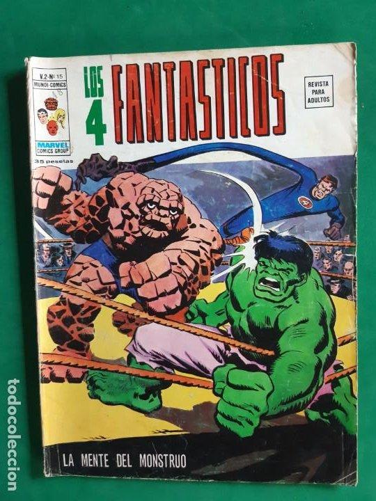 LOS 4 FANTASTICOS Nº 15 VERTICE V2 BUEN ESTADO (Tebeos y Comics - Vértice - V.2)