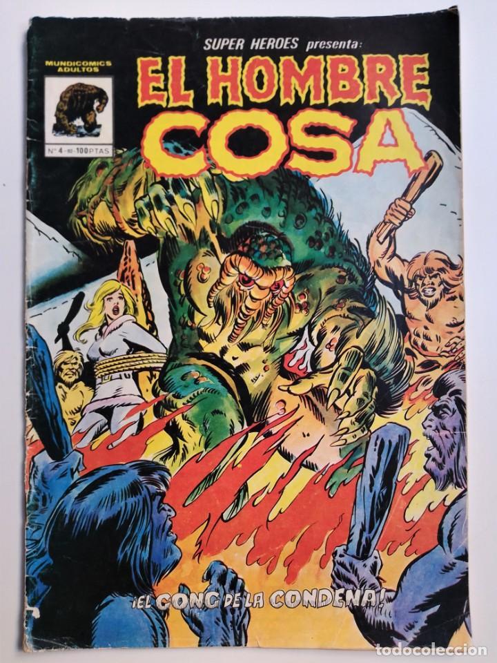 SUPER HÉROES PRESENTA: EL HOMBRE COSA Nº 4 - 82- MUNDICOMICS ADULTOS EL GONG DE LA CONDENA (Tebeos y Comics - Vértice - Surco / Mundi-Comic)
