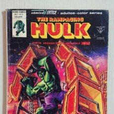 Cómics: THE RAMPAGING HULK Nº 11 · EL NIÑO QUE GRITÓ MASA! MUNDI COMICS · 1978, VÉRTICE. Lote 193071963