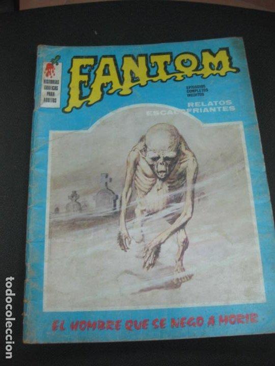 FANTOM Nº 4. RELATOS ESCALOFRIANTES. EDICIONES VERTICE 1972. (Tebeos y Comics - Vértice - Terror)