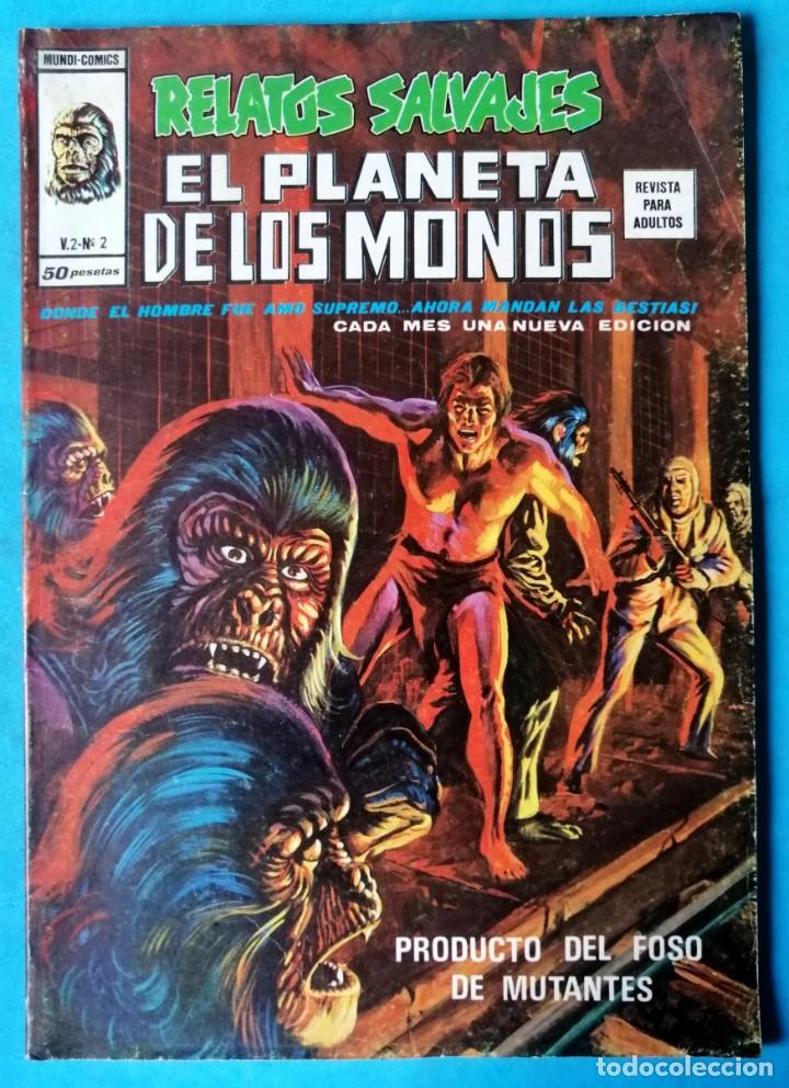 RELATOS SALVAJES - EL PLANETA DE LOS MONOS VOL.2 Nº 2 - VÉRTICE 1977 ''BUEN ESTADO'' (Tebeos y Comics - Vértice - Relatos Salvajes)