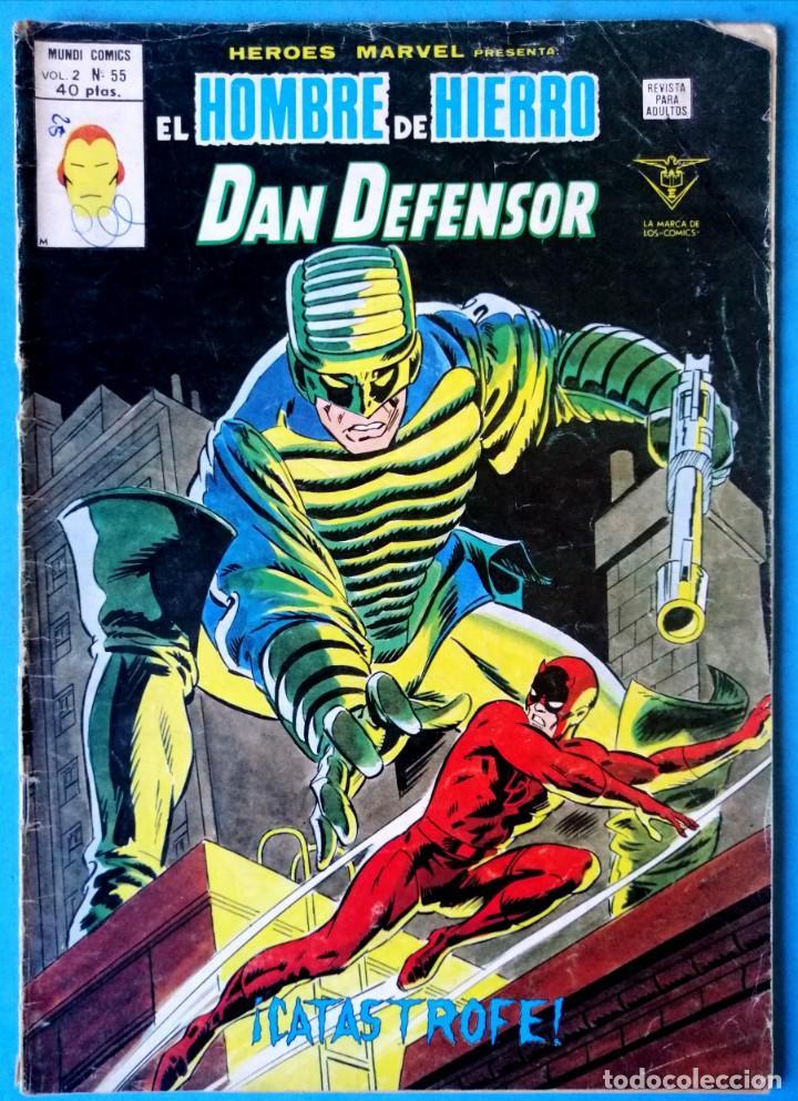 EL HOMBRE DE HIERRO Y DAN DEFENSOR VOL. 2 Nº 55 - ¡CATÁSTROFE! - VERTICE (Tebeos y Comics - Vértice - Hombre de Hierro)