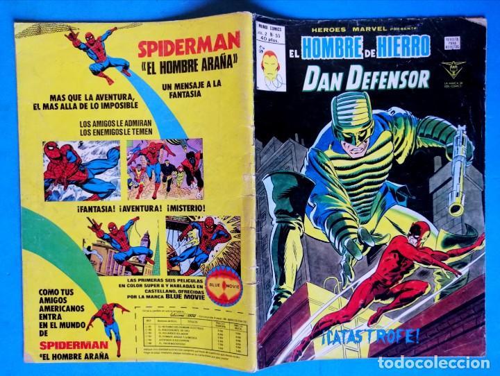 Cómics: EL HOMBRE DE HIERRO Y DAN DEFENSOR VOL. 2 Nº 55 - ¡CATÁSTROFE! - VERTICE - Foto 2 - 193433848