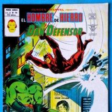 Cómics: EL HOMBRE DE HIERRO Y DAN DEFENSOR VOL. 2 Nº 54 - ZARPA DE GATO - VERTICE ''MUY BUEN ESTADO''. Lote 193434688