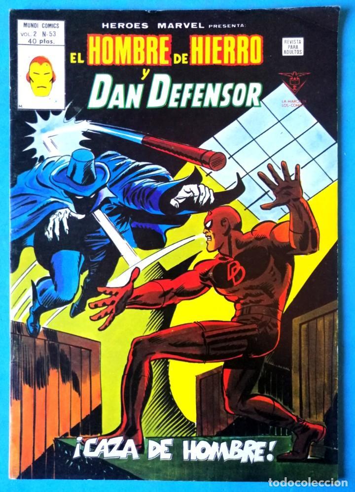 EL HOMBRE DE HIERRO Y DAN DEFENSOR VOL. 2 Nº 53 - ¡CAZA DE HOMBRE! - VERTICE ''MUY BUEN ESTADO'' (Tebeos y Comics - Vértice - Hombre de Hierro)