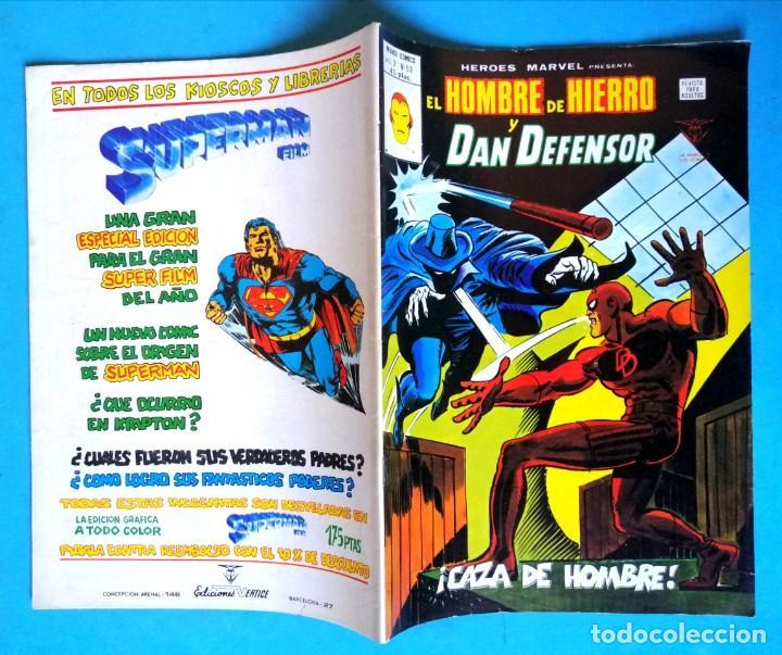 Cómics: EL HOMBRE DE HIERRO Y DAN DEFENSOR VOL. 2 Nº 53 - ¡CAZA DE HOMBRE! - VERTICE MUY BUEN ESTADO - Foto 2 - 193435036