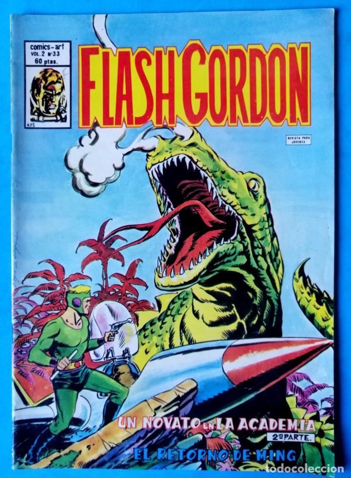 FLASH GORDON - VOL. 2 - Nº 33 - UN NOVATO EN LA ACADEMIA 2ª PARTE - VÉRTICE ''MUY BUEN ESTADO'' (Tebeos y Comics - Vértice - Flash Gordon)