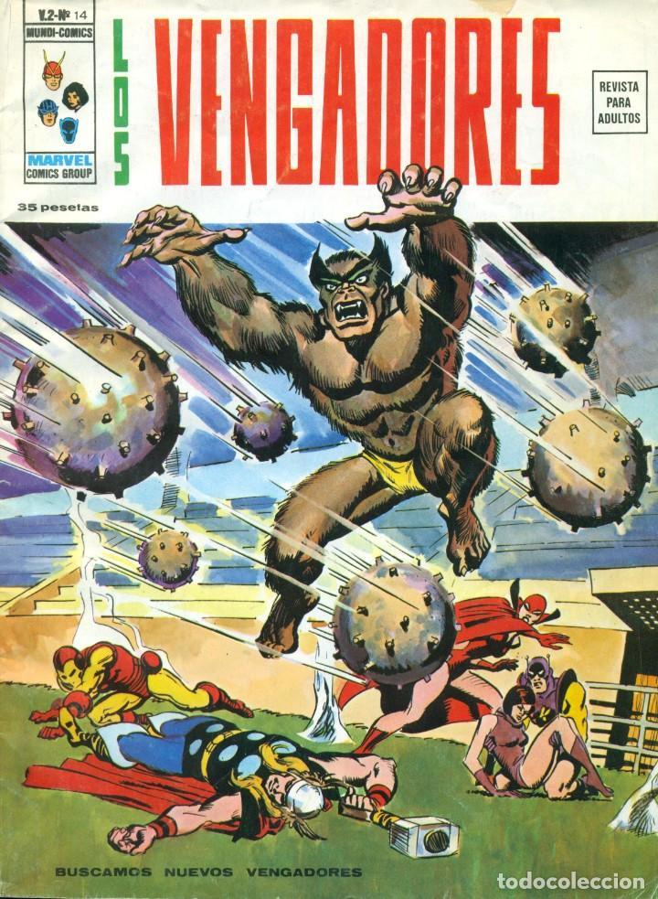 LOS VENGADORES V2-14 (Tebeos y Comics - Vértice - Vengadores)