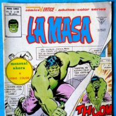 Cómics: LA MASA VOL. 3 Nº 36 RECUERDA ALGUIEN AL HOMBRE DE COBALTO - VÉRTICE ''MUY BUEN ESTADO'' . Lote 193841575