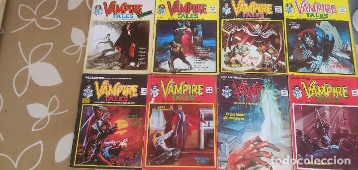 LOTE DE 8 Nº DE ESCALOFRÍO 1-17-20-22-27-31-35 42 VAMPIRE TALES 1-4-5-6-7-8-9-11 VERTICE (Tebeos y Comics - Vértice - Terror)