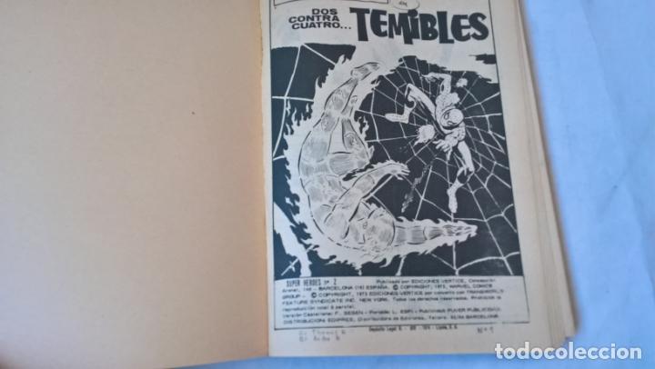 Cómics: COMIC: SUPER HEROES PRESENTA Nº 2. SPIDERMAN Y LA ANTORCHA HUMANA. DOS CONTRA CUATRO...TEMIBLES - Foto 2 - 194198985