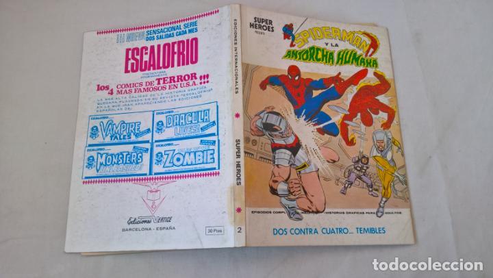 COMIC: SUPER HEROES PRESENTA Nº 2. SPIDERMAN Y LA ANTORCHA HUMANA. DOS CONTRA CUATRO...TEMIBLES (Tebeos y Comics - Vértice - Super Héroes)