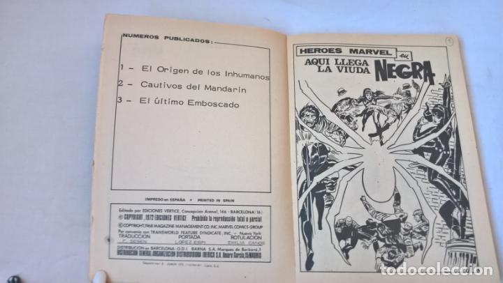 Cómics: COMIC: HEROES MARVEL Nº 5 : LLEGA LA VIUDA NEGRA - Foto 2 - 194203872