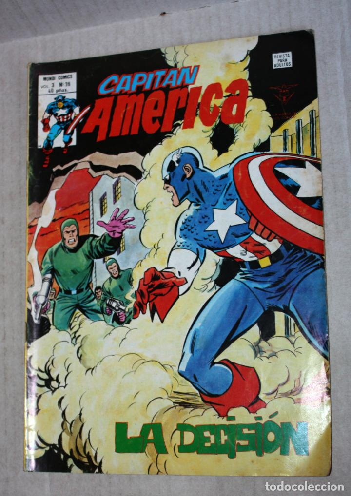 CAPITAN AMERICA (MUNDI-COMICS) VOL.3; Nº36 (Tebeos y Comics - Vértice - Surco / Mundi-Comic)