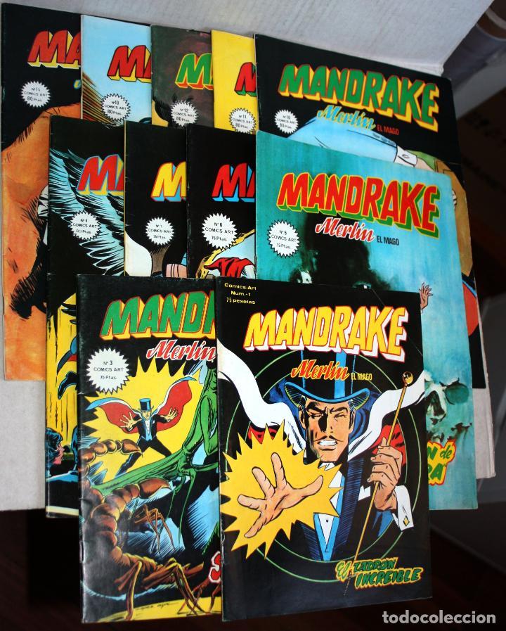 MANDRAKE (MERLÍN EL MAGO) NºS 01,03,05,06,07,08,10,11,12,13 Y 14 (DE 17).-COMICS ART (Tebeos y Comics - Vértice - Surco / Mundi-Comic)