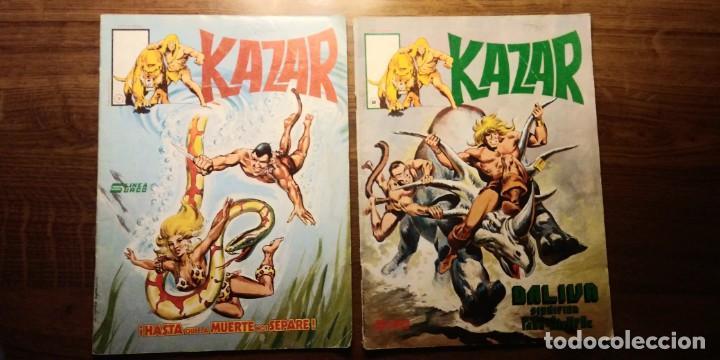 KAZAR NºS 7 Y 8. EDICIONES SURCO. VERTICE. AÑOS 80 (Tebeos y Comics - Vértice - Surco / Mundi-Comic)