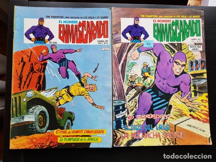 LOTE 2 TEBEOS / CÓMIC THE PHANTOM VOL.1 N 52 VOL 2 23 ORIGINAL VERTICE 1974 EL HOMBRE ENMASCARADO (Tebeos y Comics - Vértice - Flash Gordon)