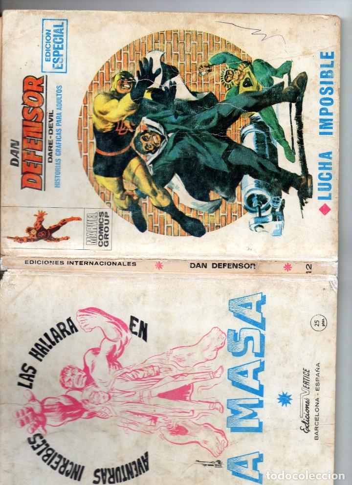 Cómics: COMIS VERTICE 1970 DAN DEFENSOR VOL1 Nº 12 ( NORMAL ESTADO ) - Foto 3 - 194308263