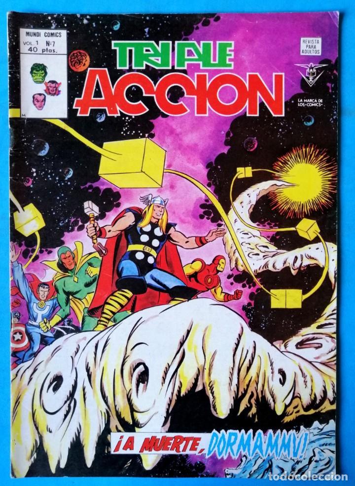 TRIPLE ACCIÓN - V.1 - Nº 7 - ¡ A MUERTE, DORMAMMU ! - VÉRTICE 1979 ''BUEN ESTADO'' (Tebeos y Comics - Vértice - Otros)