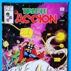 Cómics: TRIPLE ACCIÓN - V.1 - Nº 7 - ¡ A MUERTE, DORMAMMU ! - VÉRTICE 1979 ''BUEN ESTADO'' . Lote 194333173