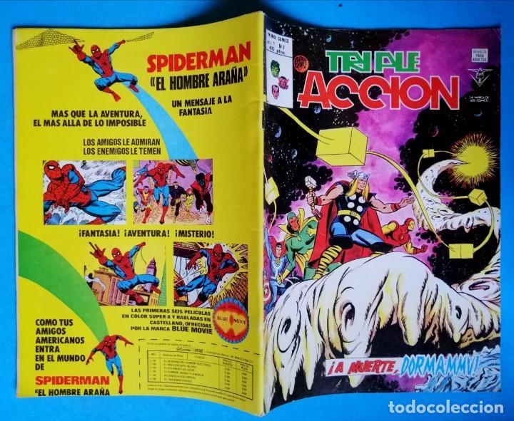 Cómics: TRIPLE ACCIÓN - V.1 - Nº 7 - ¡ A MUERTE, DORMAMMU ! - VÉRTICE 1979 BUEN ESTADO - Foto 2 - 194333173